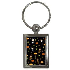 Pilgrims And Indians Pattern   Thanksgiving Key Chains (rectangle)  by Valentinaart