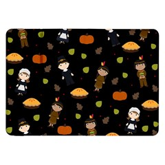 Pilgrims And Indians Pattern   Thanksgiving Samsung Galaxy Tab 8 9  P7300 Flip Case by Valentinaart