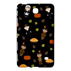 Pilgrims And Indians Pattern   Thanksgiving Samsung Galaxy Tab 4 (8 ) Hardshell Case  by Valentinaart