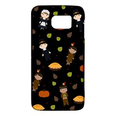 Pilgrims And Indians Pattern   Thanksgiving Galaxy S6 by Valentinaart