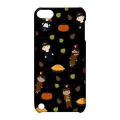 Pilgrims And Indians Pattern   Thanksgiving Apple Ipod Touch 5 Hardshell Case With Stand by Valentinaart