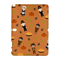 Pilgrims And Indians Pattern   Thanksgiving Galaxy Note 1 by Valentinaart