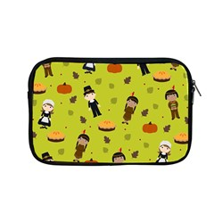 Pilgrims And Indians Pattern   Thanksgiving Apple Macbook Pro 13  Zipper Case by Valentinaart