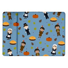 Pilgrims And Indians Pattern   Thanksgiving Samsung Galaxy Tab 10 1  P7500 Flip Case by Valentinaart