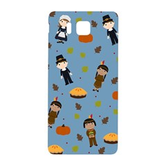 Pilgrims And Indians Pattern   Thanksgiving Samsung Galaxy Alpha Hardshell Back Case by Valentinaart