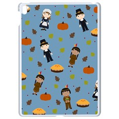 Pilgrims And Indians Pattern   Thanksgiving Apple Ipad Pro 9 7   White Seamless Case by Valentinaart