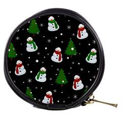 Snowman Pattern Mini Makeup Bags by Valentinaart