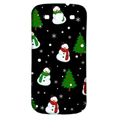 Snowman Pattern Samsung Galaxy S3 S Iii Classic Hardshell Back Case by Valentinaart