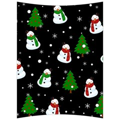 Snowman Pattern Back Support Cushion by Valentinaart