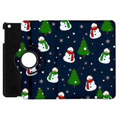 Snowman Pattern Apple Ipad Mini Flip 360 Case by Valentinaart