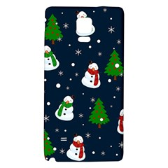 Snowman Pattern Galaxy Note 4 Back Case by Valentinaart