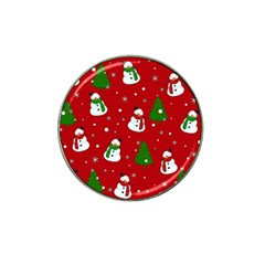 Snowman Pattern Hat Clip Ball Marker by Valentinaart