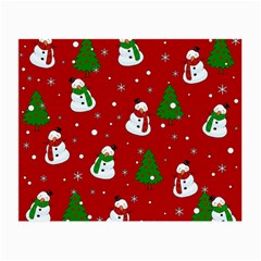 Snowman Pattern Small Glasses Cloth by Valentinaart