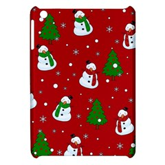 Snowman Pattern Apple Ipad Mini Hardshell Case by Valentinaart