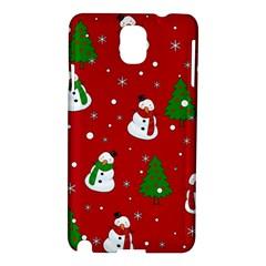 Snowman Pattern Samsung Galaxy Note 3 N9005 Hardshell Case by Valentinaart