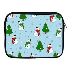 Snowman Pattern Apple Ipad 2/3/4 Zipper Cases by Valentinaart