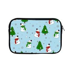 Snowman Pattern Apple Ipad Mini Zipper Cases by Valentinaart