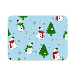 Snowman Pattern Double Sided Flano Blanket (mini)  by Valentinaart