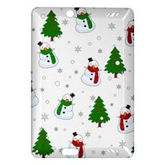 Snowman Pattern Amazon Kindle Fire Hd (2013) Hardshell Case by Valentinaart