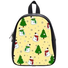 Snowman Pattern School Bag (small) by Valentinaart
