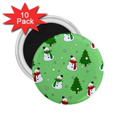 Snowman Pattern 2 25  Magnets (10 Pack)  by Valentinaart