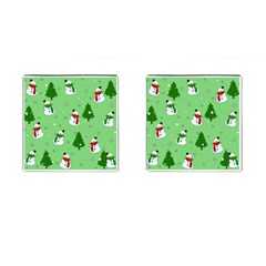 Snowman Pattern Cufflinks (square) by Valentinaart