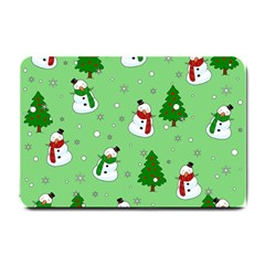 Snowman Pattern Small Doormat  by Valentinaart