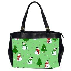 Snowman Pattern Office Handbags (2 Sides)  by Valentinaart