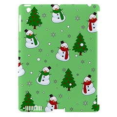 Snowman Pattern Apple Ipad 3/4 Hardshell Case (compatible With Smart Cover) by Valentinaart