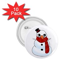 Kawaii Snowman 1 75  Buttons (10 Pack) by Valentinaart