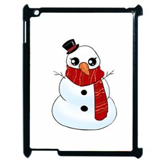 Kawaii Snowman Apple Ipad 2 Case (black) by Valentinaart