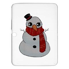 Kawaii Snowman Samsung Galaxy Tab 3 (10 1 ) P5200 Hardshell Case  by Valentinaart
