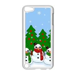 Kawaii Snowman Apple Ipod Touch 5 Case (white) by Valentinaart