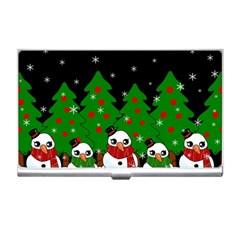 Kawaii Snowman Business Card Holders by Valentinaart