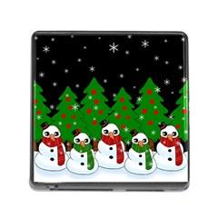 Kawaii Snowman Memory Card Reader (square) by Valentinaart