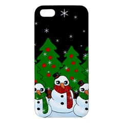 Kawaii Snowman Iphone 5s/ Se Premium Hardshell Case by Valentinaart