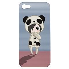 Kawaii Panda Girl Apple Iphone 5 Hardshell Case by Valentinaart