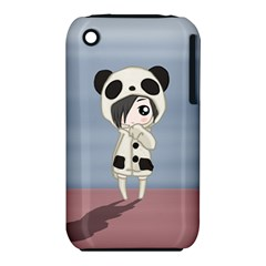 Kawaii Panda Girl Iphone 3s/3gs by Valentinaart