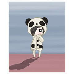 Kawaii Panda Girl Drawstring Bag (small) by Valentinaart