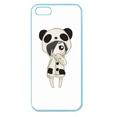 Kawaii Panda Girl Apple Seamless Iphone 5 Case (color) by Valentinaart