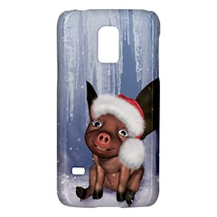 Christmas, Cute Little Piglet With Christmas Hat Galaxy S5 Mini by FantasyWorld7