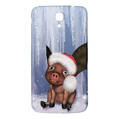 Christmas, Cute Little Piglet With Christmas Hat Samsung Galaxy Mega I9200 Hardshell Back Case by FantasyWorld7