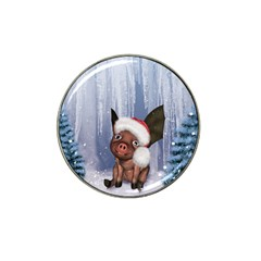 Christmas, Cute Little Piglet With Christmas Hat Hat Clip Ball Marker (4 Pack) by FantasyWorld7