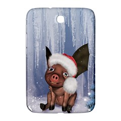 Christmas, Cute Little Piglet With Christmas Hat Samsung Galaxy Note 8 0 N5100 Hardshell Case  by FantasyWorld7