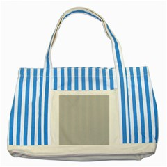 Grey And White Simulated Carbon Fiber Striped Blue Tote Bag by PodArtist