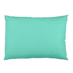 Tiffany Aqua Blue With White Lipstick Kisses Pillow Case (two Sides) by PodArtist