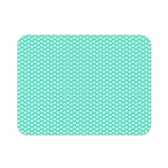 Tiffany Aqua Blue With White Lipstick Kisses Double Sided Flano Blanket (mini)  by PodArtist