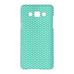 Tiffany Aqua Blue With White Lipstick Kisses Samsung Galaxy A5 Hardshell Case  by PodArtist