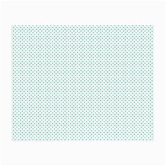Tiffany Aqua Blue Candy Polkadot Hearts On White Small Glasses Cloth by PodArtist