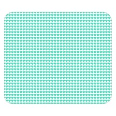Tiffany Aqua Blue Candy Hearts On White Double Sided Flano Blanket (small)  by PodArtist